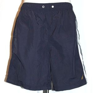 Men's Nautica Swim Shorts Mesh Lined Navy Size L